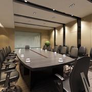 后现代风格会议室吊顶图示