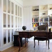 书房古意原木书桌装修