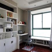 简约风格书房电脑桌设计