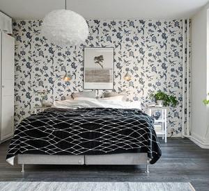 15平米卧室背景墙壁纸装修效果图