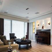 公寓简约风格客厅吊顶设计