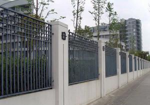 小区、别墅铁艺围墙装修效果图大合集