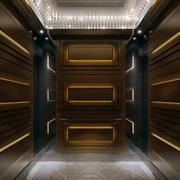 中式原木电梯环境设计