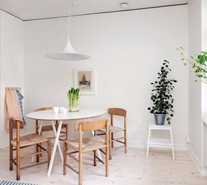 开放式家庭餐厅餐桌椅装修效果图