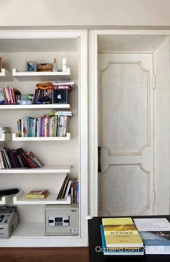 跃层精装书房书架装修效果图