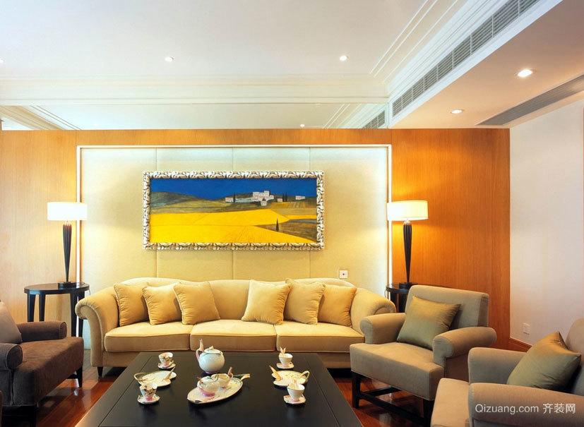 创造意境的100平米房屋客厅沙发背景墙装修效果图