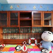 儿童房原木橱柜设计