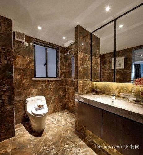 20平米自然风格卫生间瓷砖装修效果图