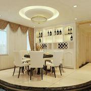 欧式奢华客厅酒柜装修