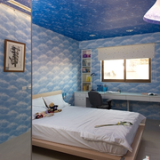 海洋蓝色儿童房装修