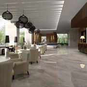 咖啡厅简约吊顶设计