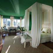 欧式卧室纯色背景墙