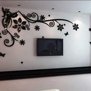 现代风格电视墙贴设计