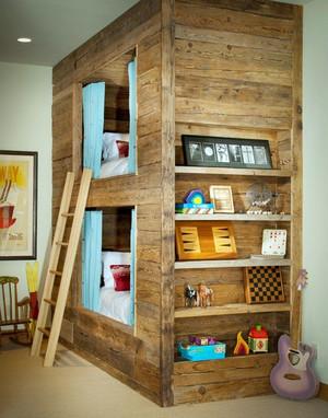 家居美的典范:都市儿童房高低床装修效果图案例鉴赏