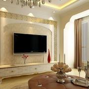 欧式拱形背景墙设计