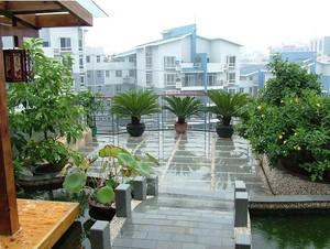 改善生态环境的大户型屋顶花园绿化装修设计效果图