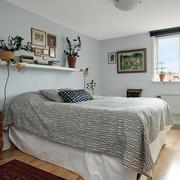 混搭风格卧室床头置物架