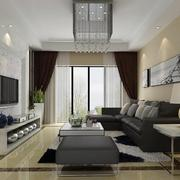 后现代风格客厅窗帘设计