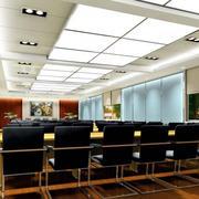 会议室皮制桌椅设计