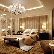 别墅奢华卧室床头设计