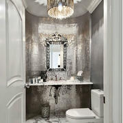 别墅卫生间奢华瓷砖装修