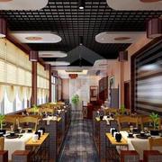 中式饭店吊顶灯饰设计