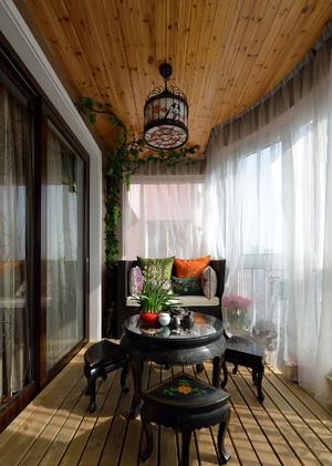 140平米美式混搭风格小公寓阳台装修效果图