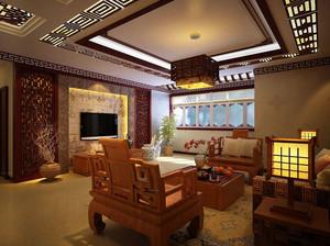中式客厅原木桌椅装修