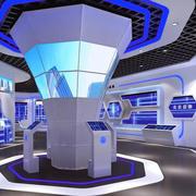 紫色系展厅装修设计
