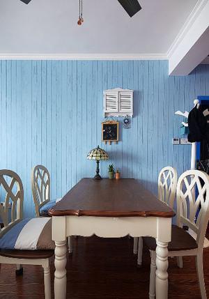 享受用餐时光:美式复古客餐厅一体餐厅装修效果图