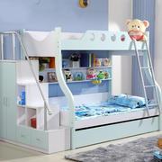 浅蓝色儿童房床饰设计
