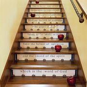 简约原木楼梯装修图