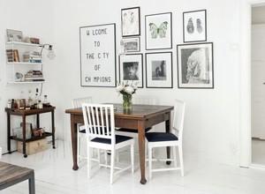 阳光洒满餐桌:小户型开放式餐厅装修效果图