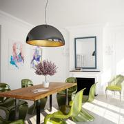 混搭风格原木色餐桌设计