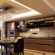 深色私人公寓厨房设计