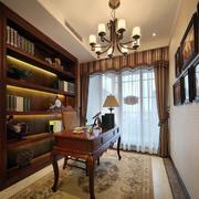 美式原木书架装饰
