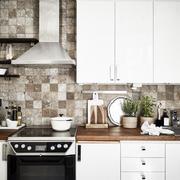 欧式一字型厨房装饰