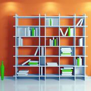 清新简约书房书架装修