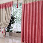 粉色阳台窗帘装饰