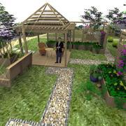 别墅花园木亭设计
