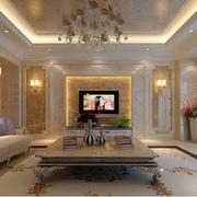 欧式奢华灯饰背景墙设计