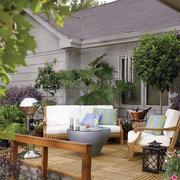 别墅花园沙发装修