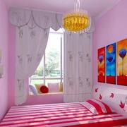 粉色卧室床头背景墙设计