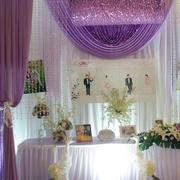 简约风格婚礼现场帘幔设计