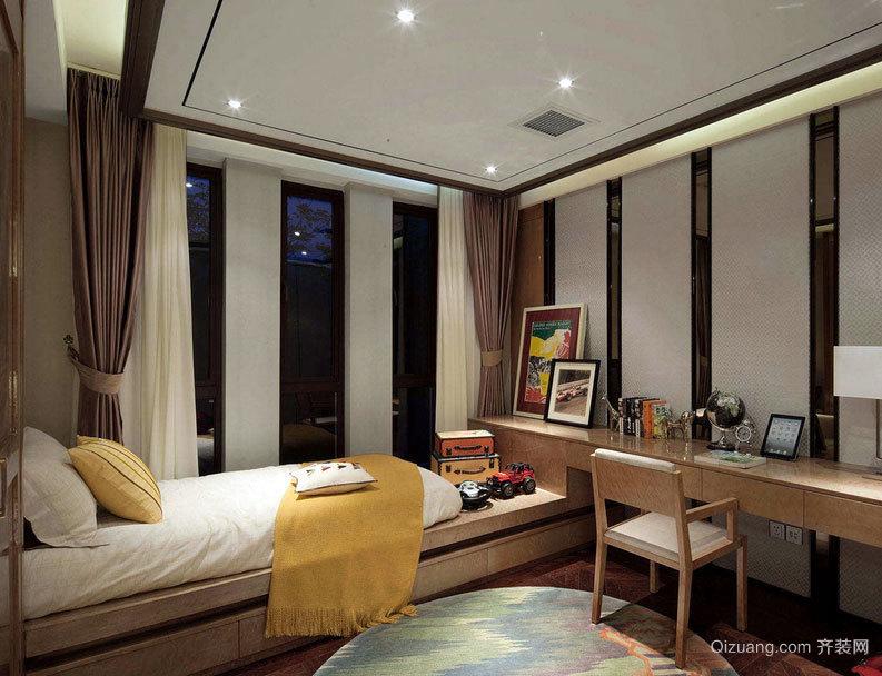 黄金睡眠设计:精致小卧室背景墙装修效果图案例欣赏