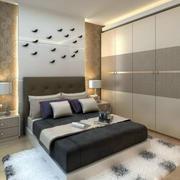 欧式卧室简约风格地毯效果图