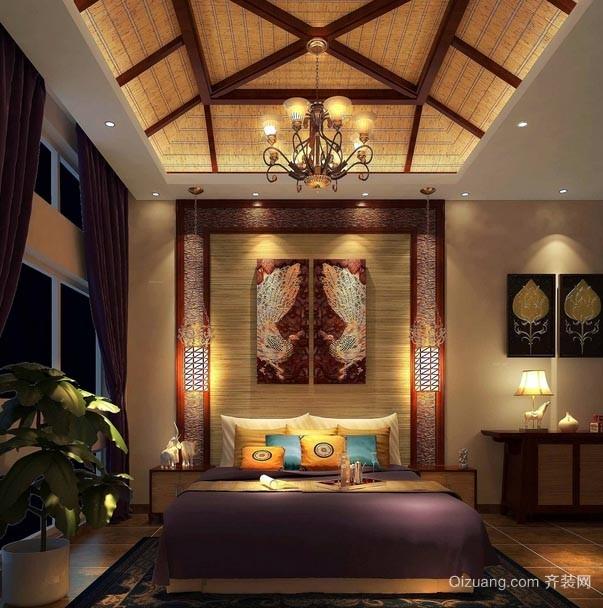 温馨中不失热情华丽的东南亚风格别墅装修效果图片