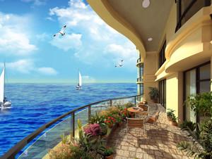 三亚海景房设计效果图案例欣赏