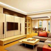 简约客厅石膏板背景墙设计