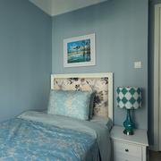 浅蓝色儿童房墙壁装修